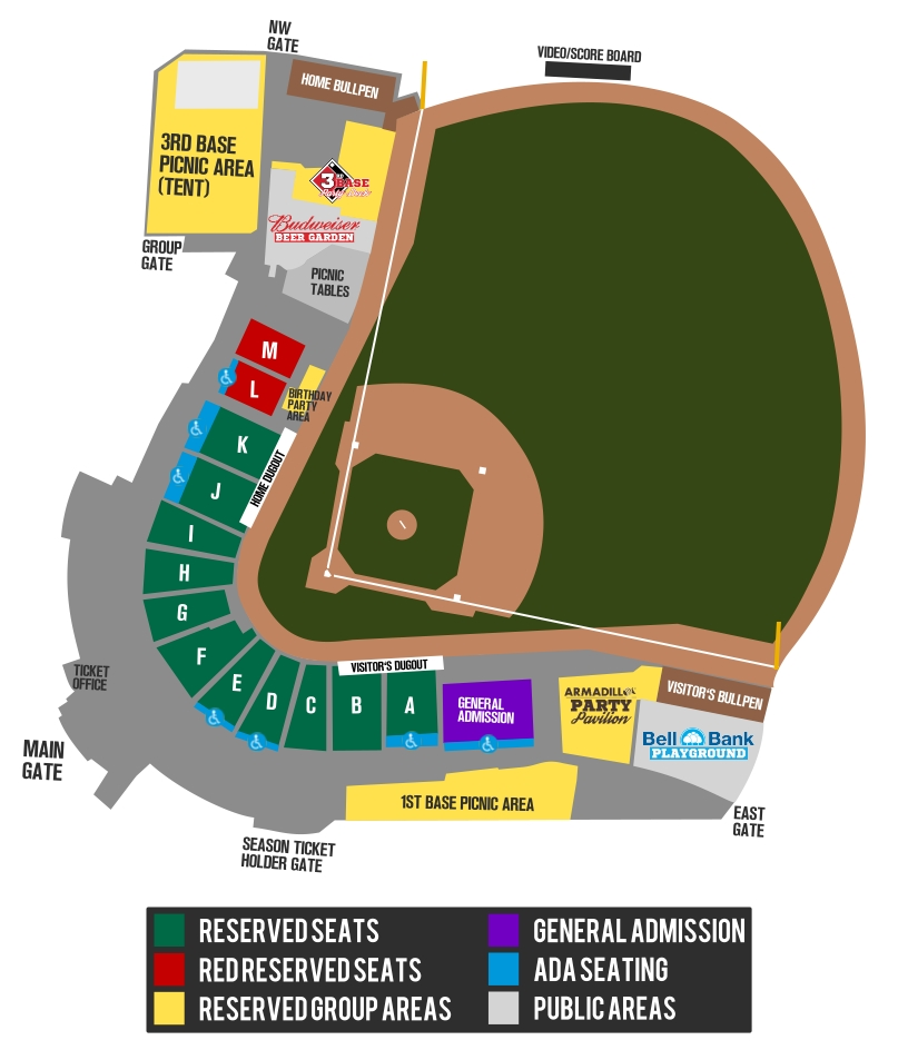 F-M RedHawks Tickets Map